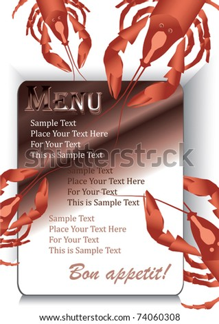 Vector Template designs of menu and business card for restaurant or coffee house - stock vector