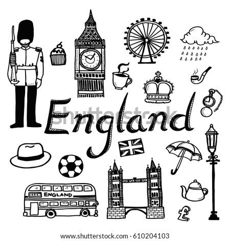 vector template doodle sketch travel tourist stock vector 610204103