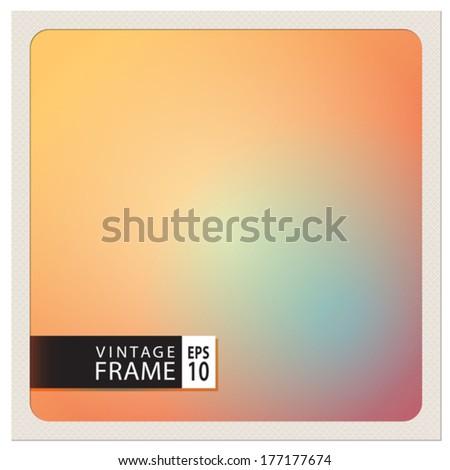 Vector template for a vintage photo frame - stock vector
