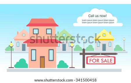 Vector Template Advertisement About House Sale Vector – House for Rent Template