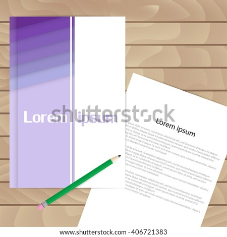 Vector template for brochures, covers, flyers or business reports. Purple stripes.
