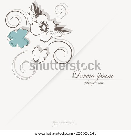 Vector template for folder, brochure, business card and birthday invitation.