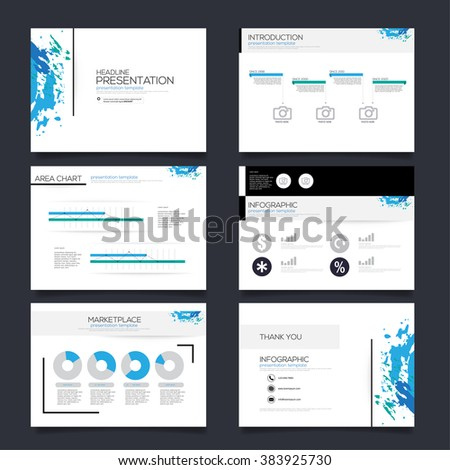 Vector Template for Presentation blue version - stock vector