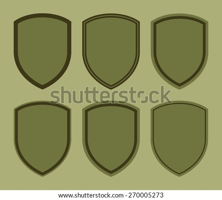 Vector Template Ranges Mark Chevrones Military Stock Vector ...