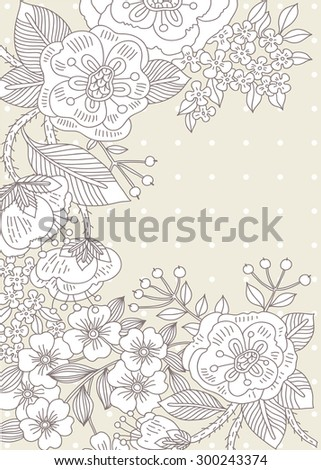 vector template for wedding invitations and cards - stock vector