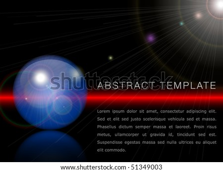 Vector Template in space style - stock vector