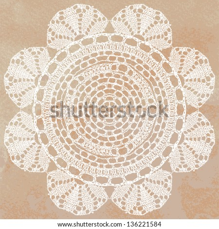 Crocheting Vector : Vector template. Invitation card. - stock vector