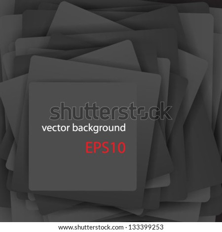 Vector template of a paper sheets (poster, picture frame)