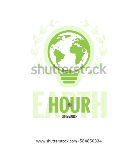Vector template earth hour daylight saving stock vector 584850334 vector template of earth hour or daylight saving time with world map lamp and clocks gumiabroncs Choice Image