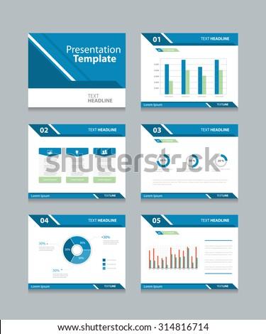 set vector templates multipurpose presentation slides stock vector, Presentation templates