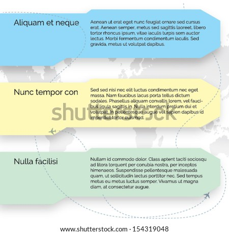 Vector template. Set of infographic elements - stock vector