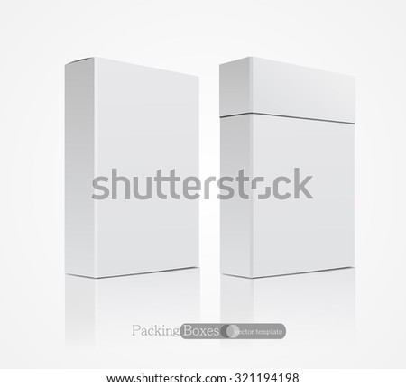 vector template white box isolated on a white background - stock vector