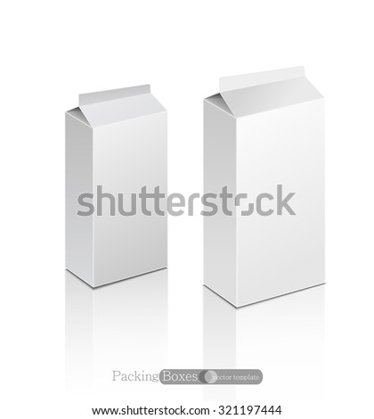 vector template white box isolated on a white background