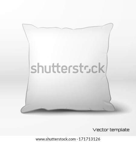 vector template white pillow realistic shadows stock vector