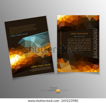 vector template with an abstract pattern of triangles - stock vector