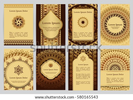 Vector templates mandala brown gold beige stock vector 2018 vector templates with mandala in brown gold and beige colors based on ancient greek stopboris Choice Image
