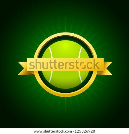 Vector tennis emblem - stock vector