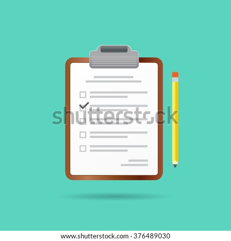 Vector Test or Exam Icon. Can be used as Logo. - stock vector