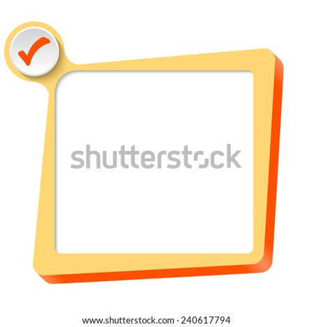 vector text box for any text and check box - stock vector