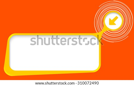 Vector text box for your text with spirals and arrow - stock vector