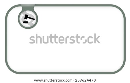 vector text frame for your text and law symbol - stock vector