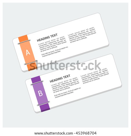 vector text frame with label card background
