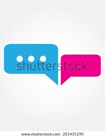 Vector texting conversation bubbles - stock vector