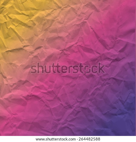 Vector texture of crumpled paper. Background paper. Textured wallpaper.  Use for label, card, banner etc. Eps 10 vector file. - stock vector