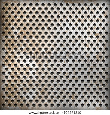 Vector texture of rusty metal background - stock vector
