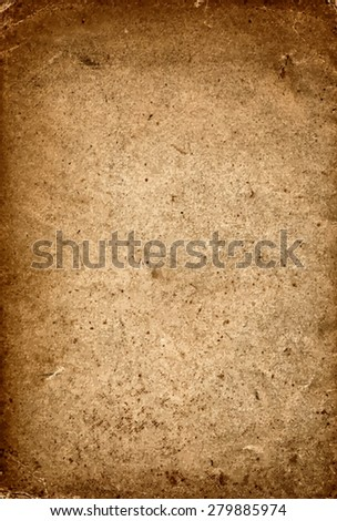 vector texture of the old brown paper grunge background  - stock vector