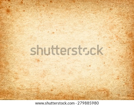 vector texture of the old paper with foxing - stock vector