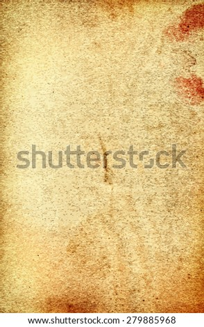 vector texture of the old yellow paper  - stock vector