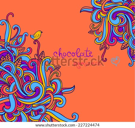 Vector texture with abstract curls. Modern pattern. Vector backdrop. Bright pattern.Use for wallpaper,pattern fills, web page background  - stock vector
