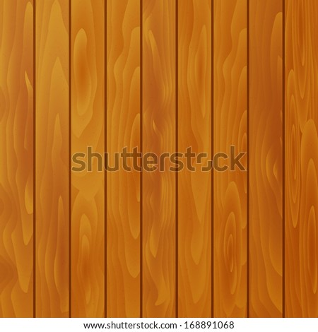 Vector textured wood background - stock vector