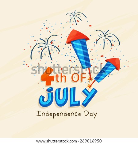 vector 4th of july american independence day. - stock vector