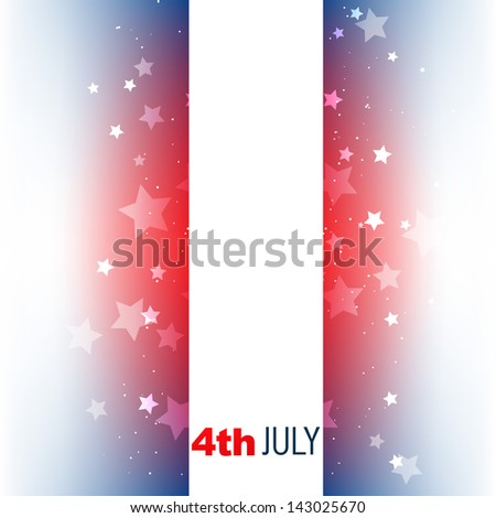 vector 4th of july american independence day design