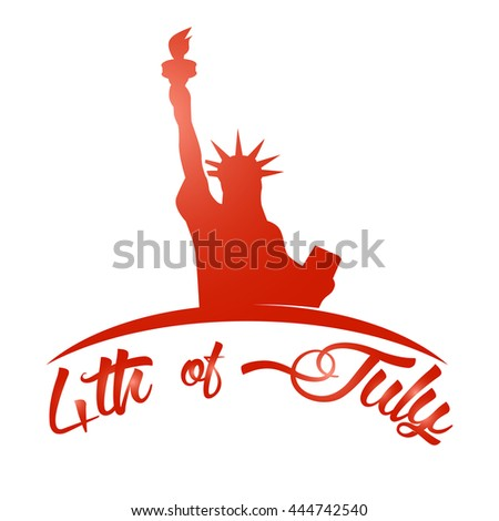 Vector 4th of July greeting card. Celebration banner, typography poster. Happy independence day of United States of America calligraphy concept. USA freedom background.