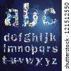 vector, the alphabet, decorative letters. - stock vector