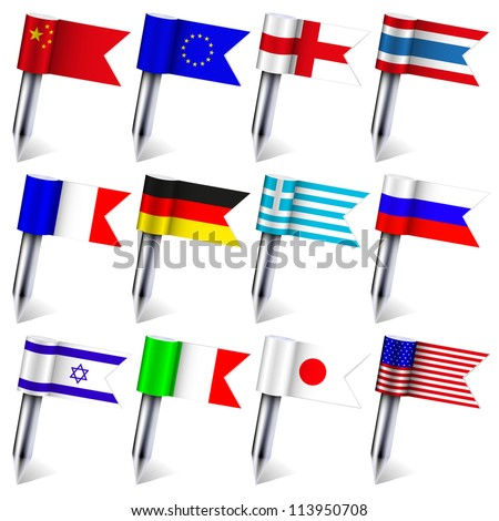 Vector. the flags of the world isolated on white background. Eps10 - stock vector