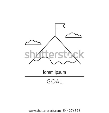 new viddyup com diagram also 2003 ford f 250 fuse diagram onstock vector vector thin line icon flag on the mountain top metaphor of achieving goals and career black on 544276396 jpg