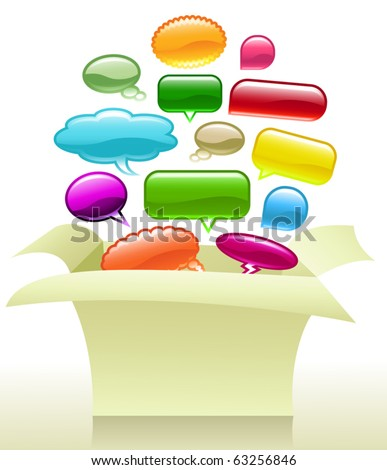 Vector Thinking Outside the Box - stock vector