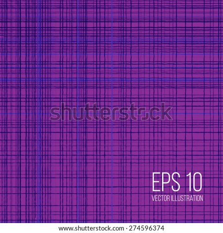 Vector thread and fabric texture background for your design - stock vector