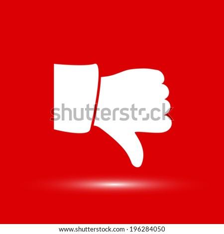 Vector thumb down icons Vector icon.  - stock vector