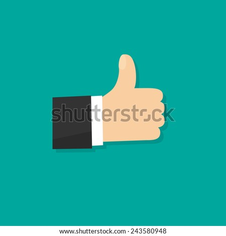 Vector thumb up. - stock vector