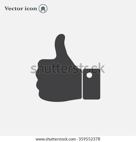 Vector thumb up icon - stock vector