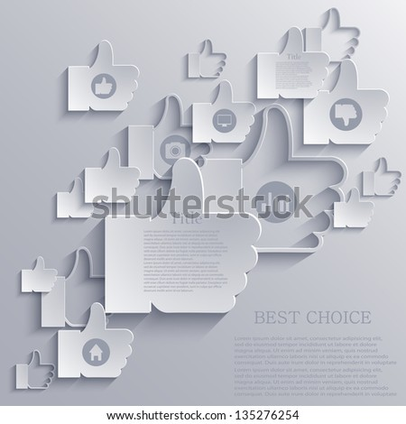 Vector thumb up icon background. Eps10 - stock vector