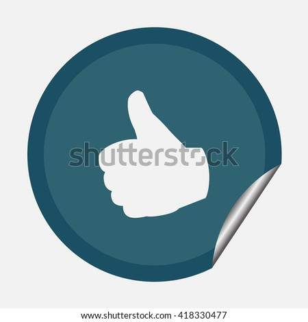 Vector thumb up icon, Flat icon vector illustration.