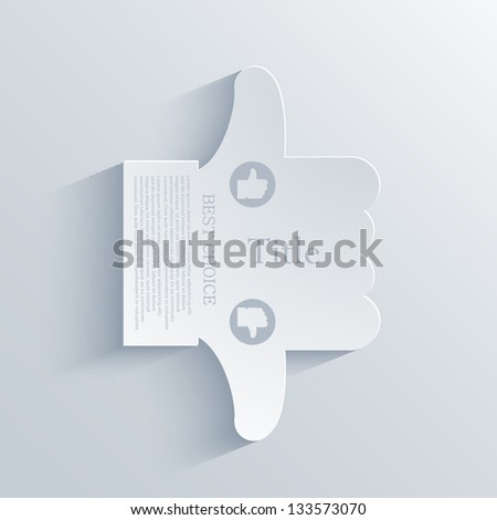 Vector thumb up or thumb down. icon background. Eps10 - stock vector