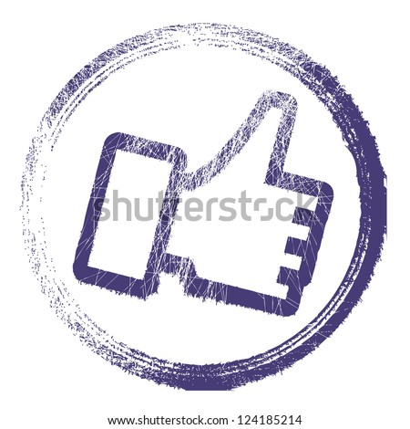 Vector thump up stamp. - stock vector
