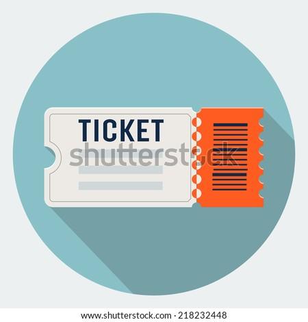 Vector ticket icon  - stock vector